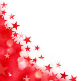 Shiny background of red lights with stars Royalty Free Stock Image