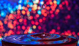 Shiny background water drop Stock Images
