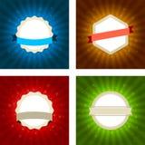 Shiny badges Royalty Free Stock Photos