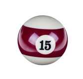 Shiny ball for billiard Royalty Free Stock Images