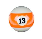 Shiny ball for billiard Royalty Free Stock Photo