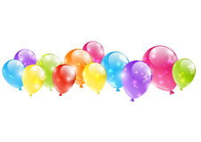 Shiny balloon border Stock Photography