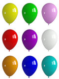 Shiny balloons. Colorful shiny balloons on isolated white background Stock Images