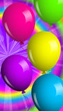 Shiny balloons stock illustration