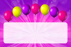 Shiny balloons Royalty Free Stock Photos