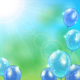 Shiny balloons Stock Photos