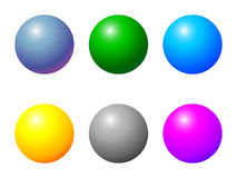 Shiny balls. Different color - vector Stock Image