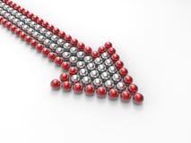 Shiny balls arrow Stock Image