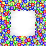 Shiny balls frame Royalty Free Stock Images