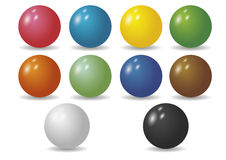 Shiny balls Stock Photography