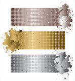 Shiny banners. Metallic shiny banners with place for text stock illustration