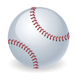 Shiny baseball ball illustration Royalty Free Stock Image