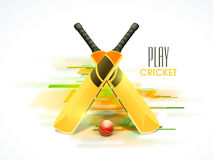 Shiny bats and ball for Cricket. Stock Photography