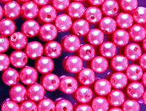 pink beads Royalty Free Stock Images