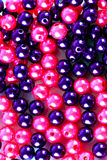 Pink and mauve  beads Royalty Free Stock Image