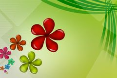 shiny beautiful flowers, abstract background Royalty Free Stock Photos