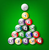 Shiny Billiard Ball Stock Photography