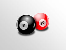 Shiny billiards balls Stock Images