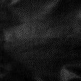 Shiny black leather background Royalty Free Stock Photography