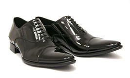 Shiny Black Men Shoes Royalty Free Stock Photos