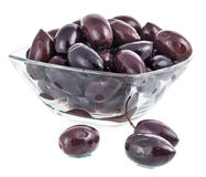 Shiny black olives Royalty Free Stock Photo