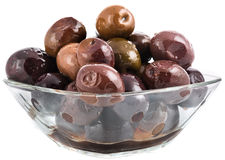 Shiny black olives Royalty Free Stock Image