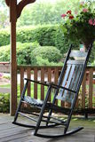 Shiny black rocking chair Royalty Free Stock Images