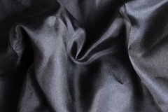 Shiny black silk handkerchief Royalty Free Stock Images