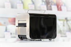Shiny black toaster Stock Photography