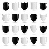 Shiny Black and White Badges - 1 - Selection Stock Photo