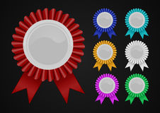 Shiny blank medals Royalty Free Stock Photography