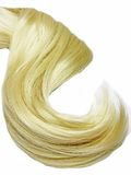 Shiny blond hair texture Stock Photo