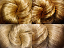 Shiny blond  hair texture background Stock Photography