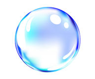 Shiny blue ball. Vector of shiny blue ball Royalty Free Stock Images