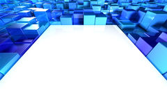 Shiny blue blocks Royalty Free Stock Image