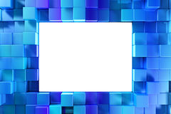 Shiny blue blocks Stock Photo