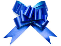 Shiny blue bow Stock Photos
