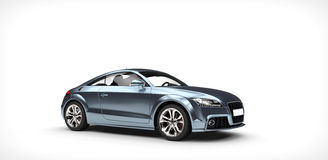 Shiny Blue Business Car Royalty Free Stock Image