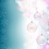 Shiny blue Christmas Background Stock Images