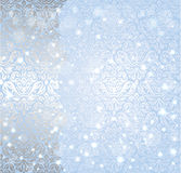 Shiny blue christmas winter Snowflake vintage background Royalty Free Stock Image
