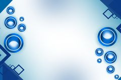 shiny blue circle both side, abstract background Royalty Free Stock Photos