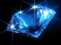 Shiny blue diamond Royalty Free Stock Photo
