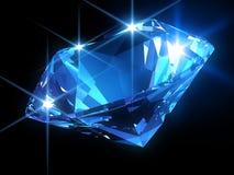 Shiny blue diamond. 3d rendered illustration of one beautiful shiny diamond Royalty Free Stock Photo
