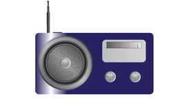 Shiny Blue Radio Stock Image