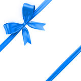Shiny blue ribbon Royalty Free Stock Images