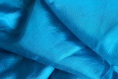 Shiny blue silk handkerchief Royalty Free Stock Photos