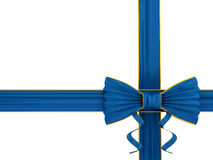 Shiny blue silk ribbon Stock Photography