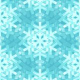 Shiny Blue Snowflakes Seamless Pattern for Royalty Free Stock Photo