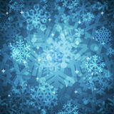 Shiny Blue Snowflakes Seamless Pattern for Stock Photos