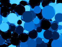 Shiny blue sphere background. Shiny blue sphere 3d abstract background Stock Image